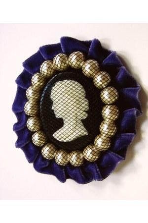 purple handmade accessories
