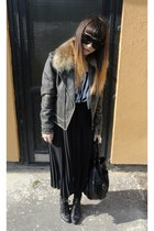dark brown Luella jacket - black Secondhand skirt