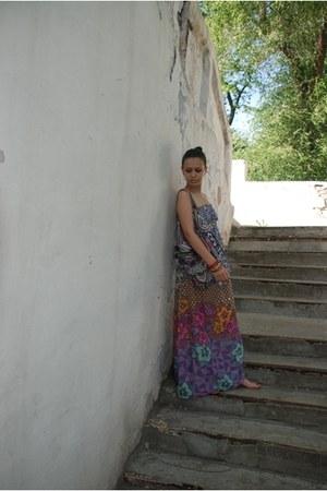 magenta Accessorize dress - violet Accessorize bag