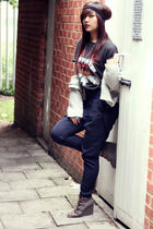Urban Outfitters t-shirt - Topshop pants - Topshop cardigan - asos shoes