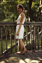 dress - silk scarf - leather belt - sandals