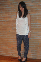 giordano top - top - pants - shoes