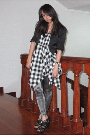 Giordano Concepts blazer - skirt - department store find leggings - Zara shoes