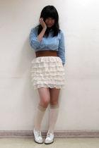 blue YRYS dress - beige H&M socks - white Kenneth Cole shoes