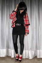 mimi jacket - Giordano Ladies top - Bazaar belt - Ebay leggings - department sto