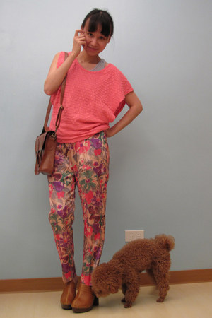 no brand top - giordano top - From my mother pants - no brand purse - SM Parisia