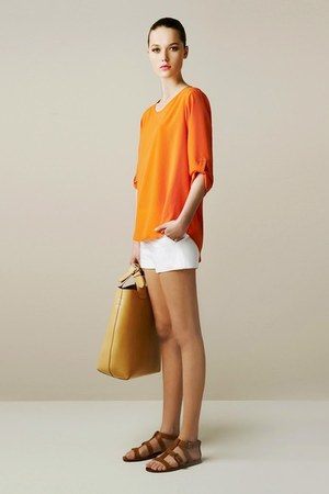 Zara bag - Zara shorts - Zara sandals - Zara blouse