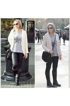 Calzedonia leggings - punt i coma shirt - hakei bag - Zara cardigan