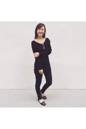 dark gray knit sweater sweater