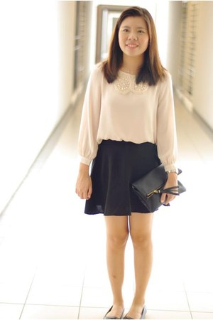 peach Azorias top - black H&M purse - black Cherrykoko skirt