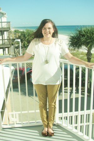 H&ampM blouse - Old Navy jeans - Mossimo flats - Etsy necklace
