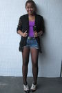 Purple-top-forever-21-shoes-topshop-tights-black-cote-d-azur-blazer