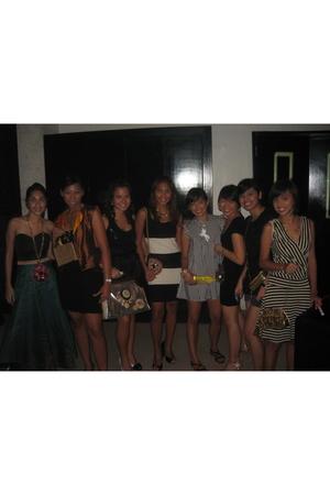 SM dress - Aranaz purse - Topshop necklace