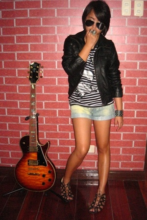 Topshop jacket - shorts - shoes - shirt