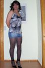 Black-no-brand-shoes-black-ebay-tights-blue-fishbone-skirt-black-ebay-top