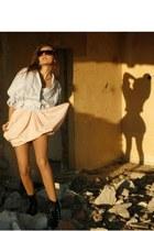 Topshop dress - vintage jacket - Rock heels