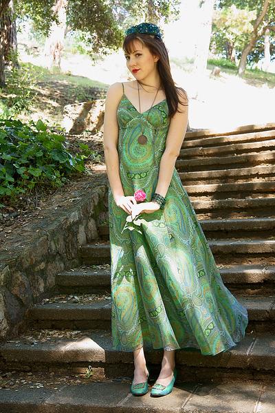 green vintage from Sweetrocket99 dress - green vintage shoes
