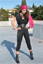Jessica Simpson boots - 80s jumpsuit vintage jumper