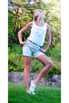 Bik Bok top - homemade shorts - homemade accessories - Vans shoes - American App
