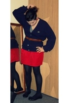 American Apparel skirt - Izod via Goodwill sweater - American Apparel t-shirt -