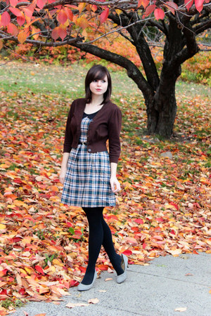 army green plaid modcloth dress - black Target tights