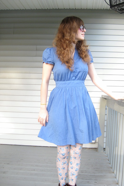 H&M dress - Look From London tights