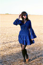 Navy-modcloth-dress-black-mossimo-tights-black-cat-eye-sunglasses
