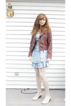 blue All That Jazz dress - brown Red BBQ jacket - beige Simply Vera by Vera Wang