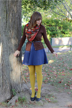 mustard Target tights - navy coincidence & chance dress