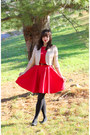 Red-modcloth-dress-gold-forever-21-jacket-black-target-tights
