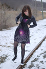 Black-galaxy-print-sugarhill-boutique-dress-black-faux-leather-h-m-jacket