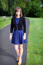 black Take out sweater - navy coincidence & chance dress