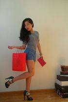 silver American Apparel shirt - red Michael Korres accessories - red unknown bra