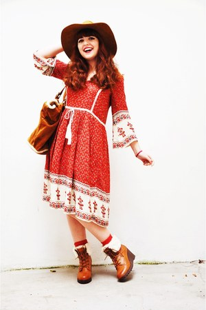 Zara dress - new look shoes - Zara hat - Zara bag