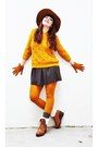 New-look-boots-zara-dress-zara-hat-zara-sweater-forever-21-socks