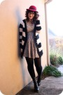 Black-urban-outfitters-cardigan-gray-urban-outfitters-dress-black-target-tig
