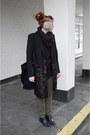 Black-leather-wrangler-boots-black-river-island-coat