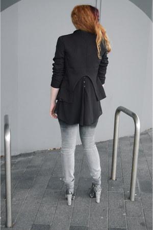heather gray snake print van haren boots - gray ombre New Yorker jeans