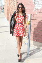 red daisy Forever 21 dress