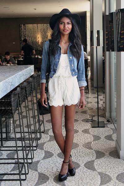 ivory white A La Femme romper - black ankle strap asos heels