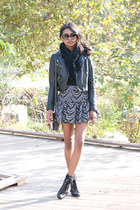 black trumpet asos skirt