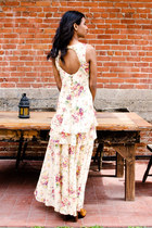 cream floral floral dress dress