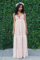 cream maxi lace Gypsy Junkies dress