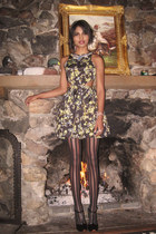 black t-strap Marc Jacobs heels