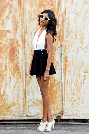 ivory avalon kore swim swimwear - black circle American Apparel skirt