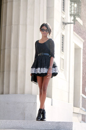 black cat eye IVI Vision sunglasses - black petticoat aa skirt