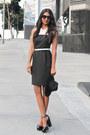 Color-block-black-swan-dress