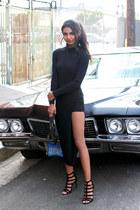 black asymmetrical Missguided skirt