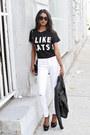White-white-dittos-jeans-black-black-batoko-shirt