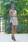 Eggshell-grid-tuolomee-dress-black-t-strap-marc-jacobs-heels